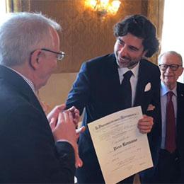 Il Maestro Piero Romano ha ricevuto il titolo di Cavaliere della Repubblica italiana