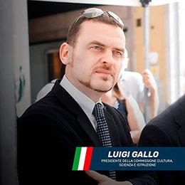 """Il presidente Luigi Gallo aprirà il concerto """"Le meraviglie d'Italia"""" all'Auditorium Gervasio."""