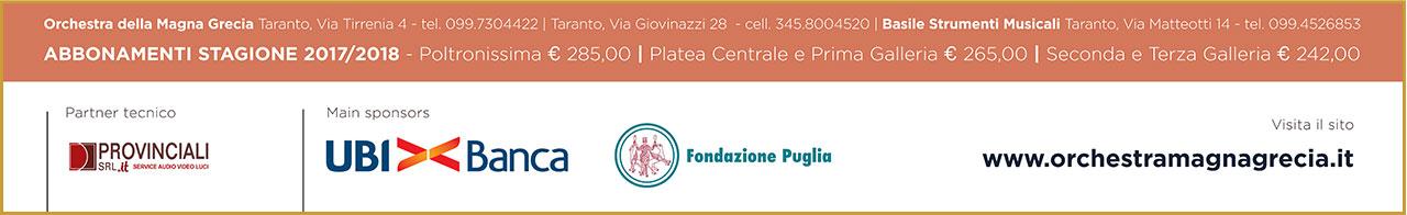 Orchestra Magna Grecia Taranto - 26^ Stagione Cameristica 2017