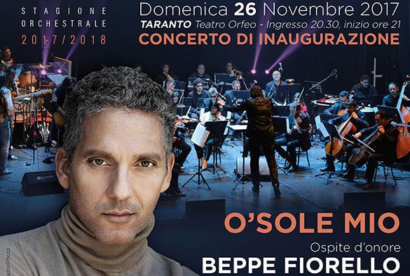 """TARANTO – Giuseppe Fiorello sarà la guest star del concerto di inaugurazione della stagione """"Eventi Musicali"""" dell'Orchestra della Magna Grecia"""