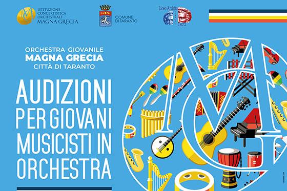 Audizioni per giovani musicisti in orchestra