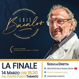 """Domenica 14 marzo, Concorso internazionale di composizione """"Luis Bacalov"""""""